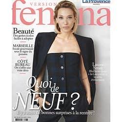 VERSION FEMINA n°960 24/08/2020  Laura Smet/ Bonnes surprises de la rentrée/ Escale gourmande à Marseille/ Beauté: gestes écolos