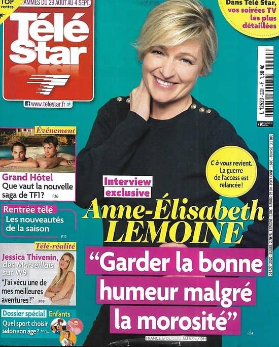 """TELE STAR n°2291 29/08/2020  Anne-Elisabeth Lemoine/ """"Grand Hôtel""""/ Reese Witherspoon/ Samuel Le Bihan/ Hélène de Fougerolles"""