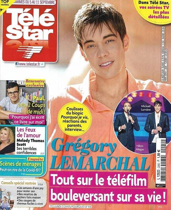 TELE STAR n°2292 05/09/2020  Grégory Lemarchal/ Julie de Bona/ River Phoenix/ Adriana Karembeu/ Albert Dupontel/ Elvis Presley