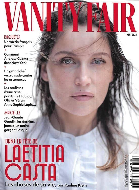 VANITY FAIR n°81 août 2020  Dans la tête de Laetitia Casta/ Un vaccin français pour Trump?/ Derniers jours du maire Gaudin/ Andrew Cuomo/ Benjamin Biolay