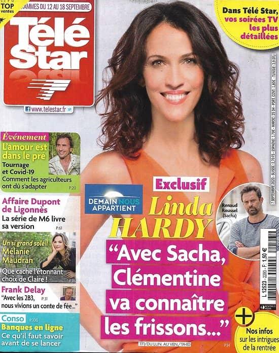 """TELE STAR n°2293 12/09/2020  Linda Hardy """"Demain nous appartient""""/ Mélanie Maudran/ Alain-Fabien Delon/ Affaire Dupont de Ligonnès"""