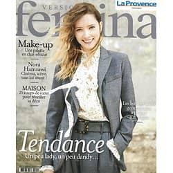 VERSION FEMINA n°964 21/09/2020  Tendance Lady-Dandy/ Nora Hamzawi/ Spécial déco/ Bons plans des vegan