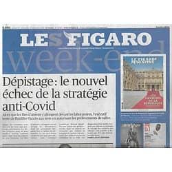 LE FIGARO n°23667 19/09/2020  Dépistage Covid: l'échec/ Passage à l'électrique/ Sépulture de Montaigne/ Combattants du patrimoine