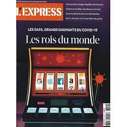 L'EXPRESS n°3610 10/09/2020  GAFA: grands gagnants de l'épidémie/ Les villes où il fait bon vivre et travailler/ Chevaux mutilés/ Rimbaud par Lefrère