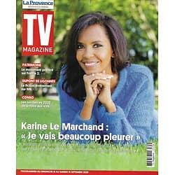 """TV MAGAZINE 13/09/2020 n°1754  Karine Le Marchand """"L'amour est dans le pré""""/ Arnaud Ducret/ Mélanie Thierry/ Foire aux vins"""
