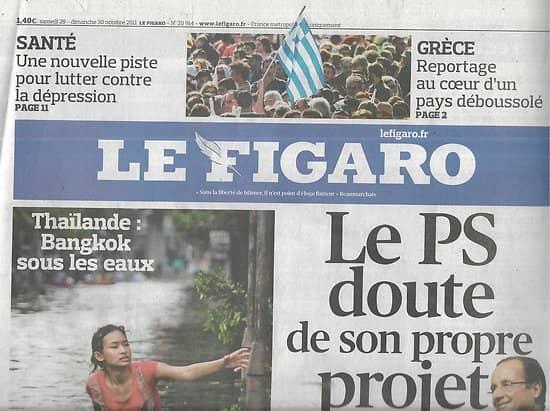 LE FIGARO n°20914 29/10/2011  Projet PS/ Romy Schneider/ Vendée Globe/ Spécial Madrid