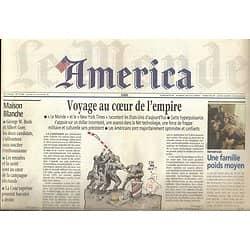 LE MONDE AMERICA n°17366 20/10/2000   Voyage au coeur des Etats-Unis