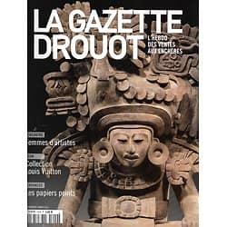 LA GAZETTE DROUOT n°1609 04/03/2016  Urne zapothèque/ Femmes d'artistes/ Papiers peints/ Cave XXL de Pierre Bergé/ L'Algérie convoitée
