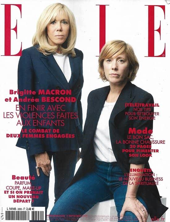 ELLE n°3899 11/09/2020  Brigitte Macron & A.Bescond: en finir avec les violences faites aux enfants/ Spécial accessoires/ Nicolas Lefebvre/ Léa Salamé