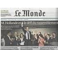 LE MONDE n°20758 18/10/2011  Hollande et le défi du rassemblement/ Eldorado minier en Afghanistan/ Le rebond du chômage