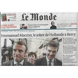 LE MONDE n°21651 28/08/2014  Macron, le joker de Hollande/ Gouvernement Valls 2/ Austérité/ Alexandre Desplat/ Sentiers sauvages de La réunion
