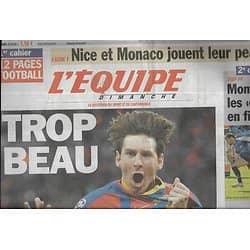 L'EQUIPE n°20774 29/05/2011 Ligue des Champions: FC Barcelone: trop beau!/ Messi/ Spécial football Ligue 1 & 2