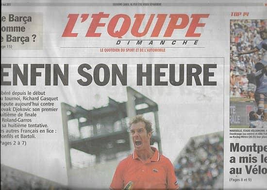 L'EQUIPE n°20774 1 29/05/2011 Richard Gasquet: enfin son heure/ Rugby: Montpellier/ Sébastien Vettel/ Olivier Panis