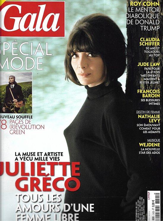GALA n°1425 01/10/2020  Juliette Gréco/ Mode: révolution green/ Jude Law/ Claudia Schiffer/ Nathalie Levy/ Irène Frain