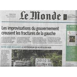 LE MONDE n°22221 24/06/2016  Manifestation: le volte-face/ Notre-Dame-des-Landes/ Euro 2016/ Zlatan Ibrahimovic/Yves Bonnefoy/ Julian Barnes