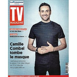 "TV MAGAZINE 11/10/2020 n°1758  Camille Combal/ Grégoire Margotton/ ""Koh-Lanta""/ ""Objectif top Chef"""