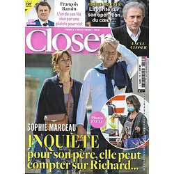 CLOSER n°799 02/10/2020  Sophie Marceau/ François Baroin/ Michel Drucker/ Kit Harington & Rose Leslie/ Gwyneth Paltrow/ Carla Bruni