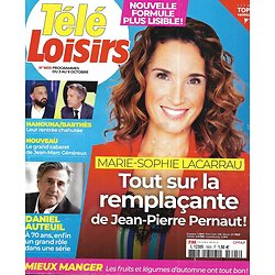 TELE LOISIRS n°1805 03/10/2020  Marie-Sophie Lacarrau/ Daniel Auteuil/ Hanouna vs Barthès/ Albert Einstein