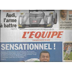L'EQUIPE n°20787 11/06/2011 Tsonga, sensationnel!/ 24H du Mans: Audi, Dempsey/ F1: Webber/ Foot: Equipe de France/ Tyson Gay/ Basket: Cholet vs Nancy