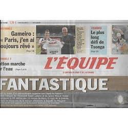 L'EQUIPE n°20789 13/06/2011 24 Heures du Mans: Audi, fantastique!/ Kevin Gameiro/ Alou Diarra/ Estanguet/ Murray vs Tsonga