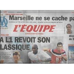 L'EQUIPE n°20841 04/08/2011  La L1 revoit son classique/ L'OM/ Zebina/ XV de France/ Qatar superpuissant
