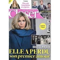 CLOSER n°800 09/10/2020  Brigitte Macron/ Harry & Meghan/ Loana/ Jennifer Garner/ Catherine Laborde/ Shannen Doherty/ Hugh Jackman/ Malika Ménard