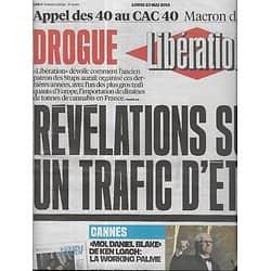 LIBERATION n°10886 23/05/2016  Stups: un trafic d'Etat/ Ken Loach/ Festival de Cannes/ Valls en Israël/ Elle Fanning