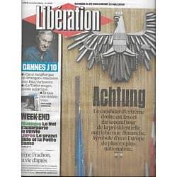 LIBERATION n°10885 21/05/2016  Autriche: le péril Hofer/ Paul Verhoeven/ André Gide/ Vinyles/ Mediator: Irène Frachon/ Nono matériaux/ Qui gouverne Internet?