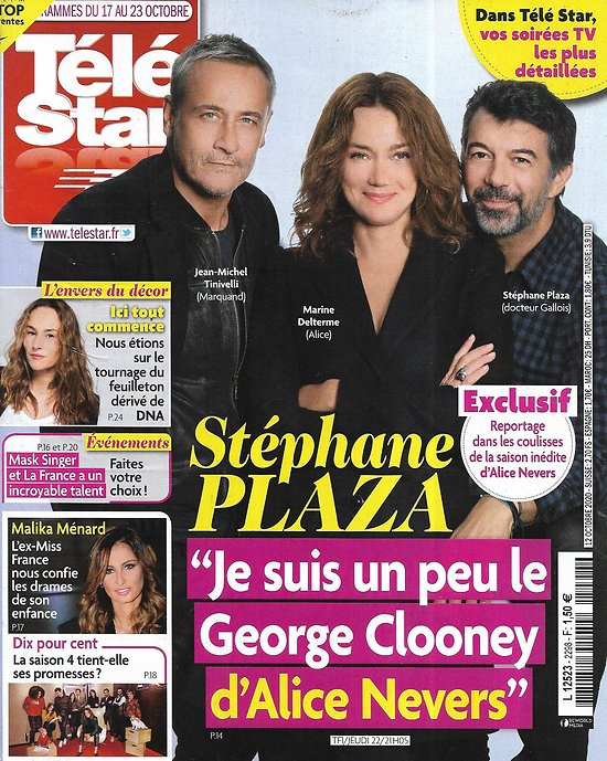 "TELE STAR n°2298 17/10/2020  Stéphane Plaza ""Alice Nevers""/ Malika Ménard/ ""Dix pour cent""/ Jennifer Love Hewitt/ ""Mask Singer"""