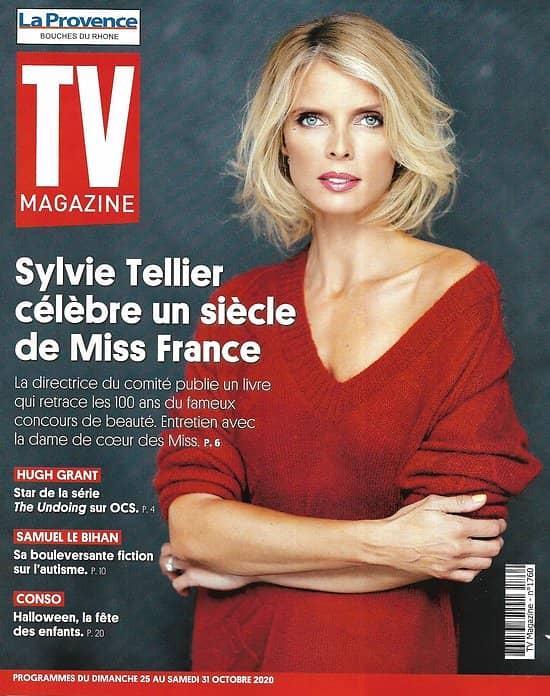 TV MAGAZINE 25/10/2020 n°1760  Sylvie Tellier célèbre Miss France/ Hugh Grant/ Samuel Le Bihan/ Spécial Halloween