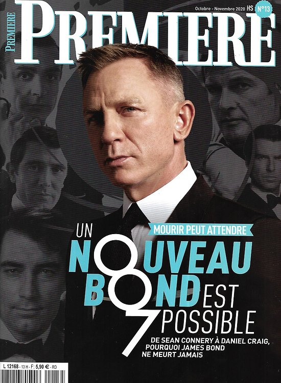 "PREMIERE n°13HS oct.-nov; 2020  James Bond ""Mourir peut attendre"" Daniel Craig/ Ian Fleming/ la saga 007/ Sean Connery"