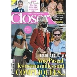 CLOSER n°801 16/10/2020  Laeticia Hallyday/ Loana/ Gérald Darmanin/ Sophie Turner & Joe Jonas§ Meghan Markle
