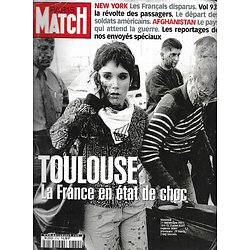 PARIS MATCH n°2732 04/10/2001  Toulouse, explosion de l'usine AZF/ New York, après les attentats/ L'Afghanistan/ Peintre RaphaëlBen Laden