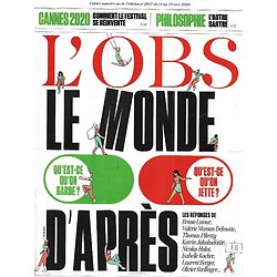 L'OBS n°2897 14/05/2020  Le monde d'après/ Cannes 2020/ L'autre Sartre/ Avenir du livre/ Scientifiques superstars