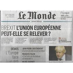 LE MONDE n°22223 27/06/2016  Dossier: L'Europe face au défi du Brexit/ Spécial vélo/ Emirats Arabes Unis/ Canal de Panama