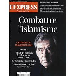 L'EXPRESS n°3616 22/10/2020  Combattre l'islamisme/ François Fillon/ Gratuité des transports/ Covid: l'isolement/ Epidémie en Allemagne