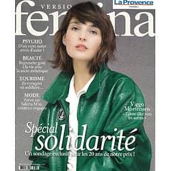 VERSION FEMINA n°970 02/11/2020  Spécial solidarité: voyage, citoyenneté, beauté, s'engager/ Entretien avec Viggo Mortensen