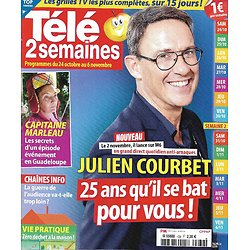 "TELE 2 SEMAINES n°439 24/10/2020  Julien Courbet/ ""Capitaine Marleau""/ Philippe Etchebest/ Eddy Mitchell/ Chaînes d'info"