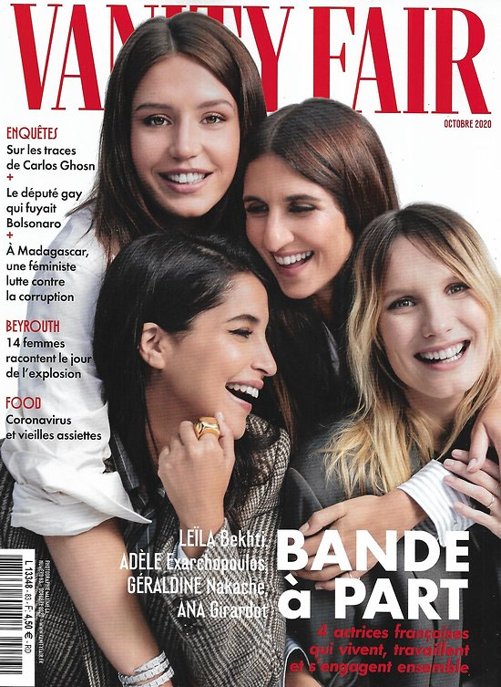 VANITY FAIR n°83 octobre 2020  Adèle Exarchopoulos, Leïla Bekhti, Ana Girardot & Géraldine Nakache: bande à part/ Sur les traces de Carlos Ghosn
