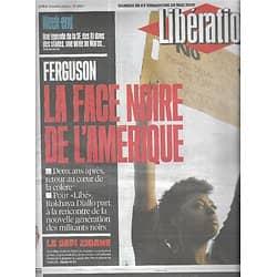 LIBERATION n°10891 28/05/2016  Ferguson: la face noire de l'Amérique/ Black Lives Matter/ Le défi Zidane/ Philippe Curval