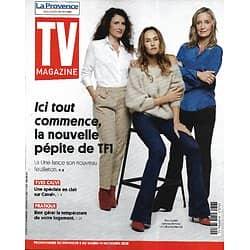 "TV MAGAZINE 08/11/2020 n°1762  ""Ici tout commence""  Vanessa Demouy, Elsa Lunghini & Catherine Marchal"