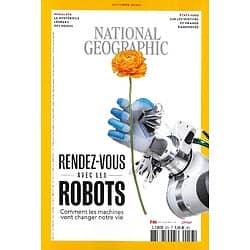 NATIONAL GEOGRAPHIC n°253 octobre 2020  Robots: comment les machines vont changer votre vie/ Le mystérieux léopard des neiges/ USA: sentiers de grandes randonnées