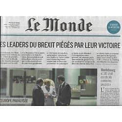LE MONDE n°22225 29/06/2016  Les leaders du Brexit piégés/ L'Europe paralysée/ Euro 2016/ Spécial Education