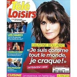 "TELE LOISIRS n°1810 07/11/2020  Faustine Bollaert/ ""Balthazar""/ ""Plus belle la vie""/ Camille Cerf/ Agatha Christie/""Manifest"""