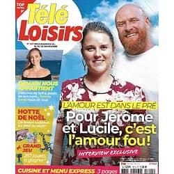 """TELE LOISIRS n°1811 14/11/2020  """"L'amour est dans le pré""""/ Emma Smet/ """"Balthazar""""/ Sean Connery/ Daval, la série"""