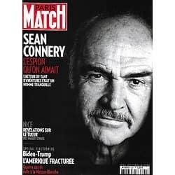 PARIS MATCH n°3731 05/11/2020  Sean Connery, l'espion qu'on aimait/ Virus, le péril jeune/ Spécial élections USA/ Attaque terroriste à Nice