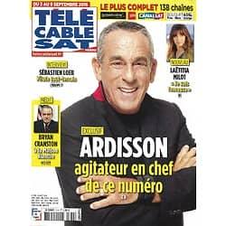 Télé Cable Sat n°1374 03/09/2016  Thierry Ardisson/ Laëtitia Milot/ Bryan Cranston/ Sébastien Loeb/ Kurosawa