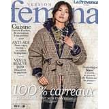 FEMINA VERSION n°973 23/11/2020  Mode 100% carreaux / Dominique Blanc / Flaubert dans nos assiettes / Souplesse, l'anti-âge / L'essouflement