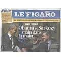 LE FIGARO n°20920 05/11/2011  Obama & Sarkozy main dans la main/ G20/ Julien Clerc/ Musée Cocteau