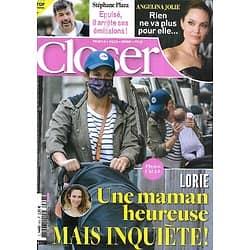 CLOSER n°805 13/11/2020  Lorie/ Angelina Jolie/ Stéphane Plaza/ Anya Taylor-Joy/ Joe Biden/ Chimène Badi/ Amber Heard